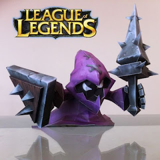 League of Legends Purple Minion Papercraft