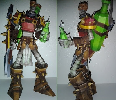 League of Legends - Singed the Mad Scientist Papercraft