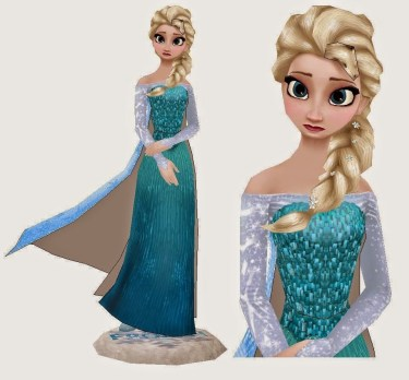 Frozen - Adult Elsa Papercraft