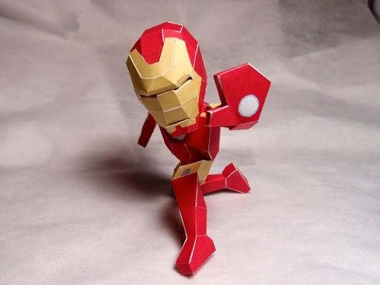 Chibi Iron Man Mark VII Papercraft