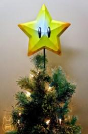 Mario Super Star Tree Topper Papercraft