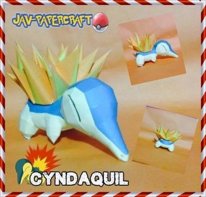 Pokemon Cyndaquil Papercraft