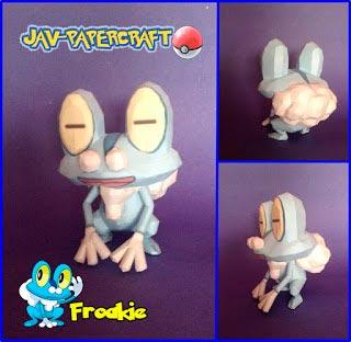 Pokemon Froakie Papercraft