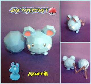Pokemon Azurill Papercraft