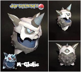 Pokemon Mega Glalie Papercraft