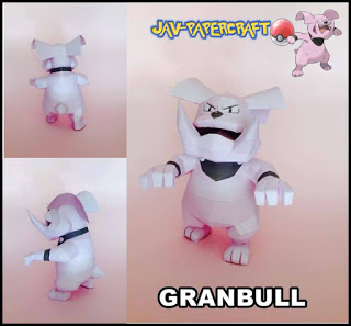 Pokemon Granbull Papercraft