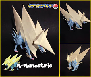 Pokemon Mega Manectric Papercraft