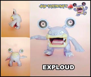 Pokemon Loudred Papercraft