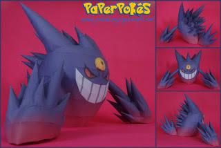 Pokemon Mega Gengar Papercraft