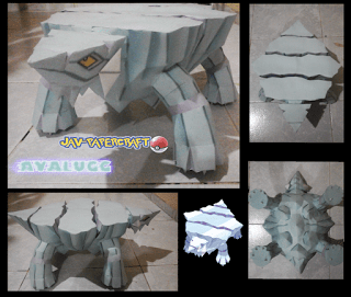 Pokemon Avalugg Papercraft