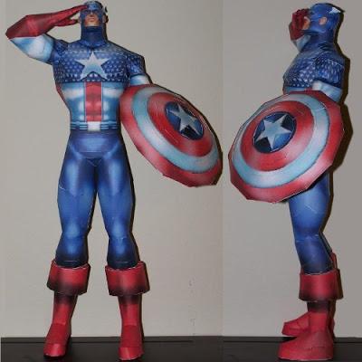 Captain-America-Paper-Model