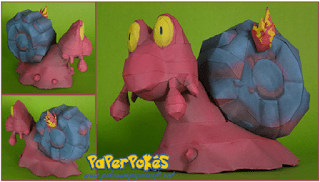 Pokemon Magcargo Papercraft
