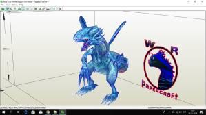 Dragon Blanco ojiazul Papercraft