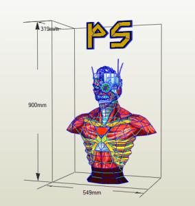 Eddie Cyborg papercraft