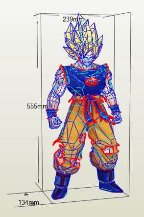 Goku papercraft