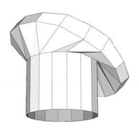 Gorro cheff papercraft