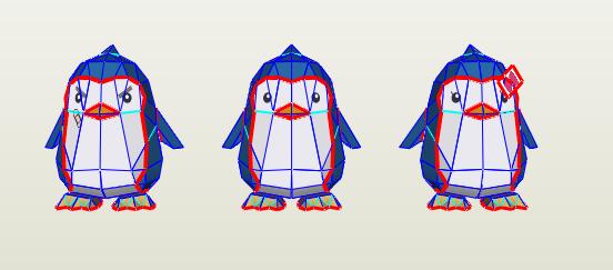 Pingüinos papercraft