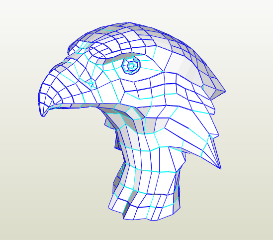 Aguila busto papercraft