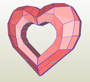 Portaretrato corazon papercraft