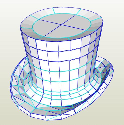 Sombrero de Copa papercraft