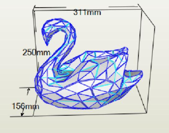 Cisne papercraft