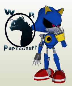Metal Sonic Papercraft