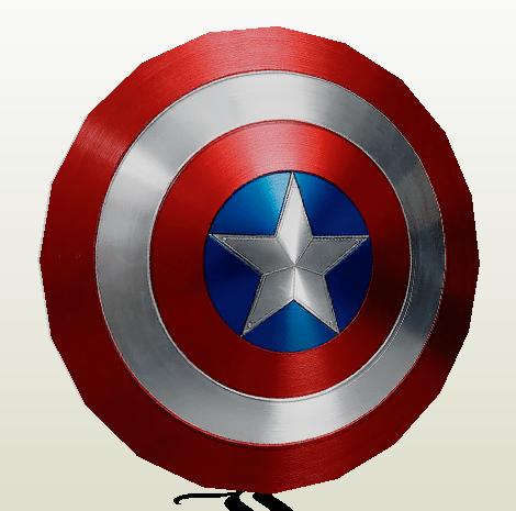 Escudo Capitán América Papercraft