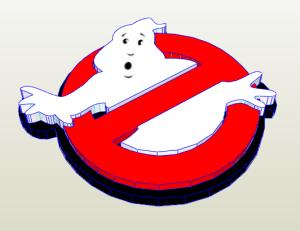 Logo Cazafantasmas papercraft