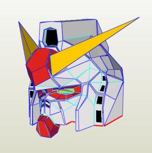 Máscara Gundam