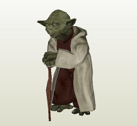 Maestro Yoda papercraft