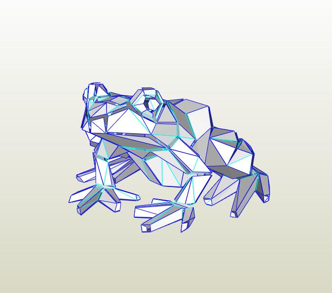 Rana papercraft