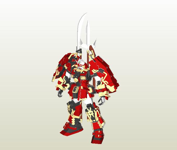Shin Musha Gundam Papercraft