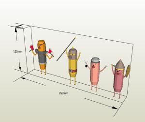 Hot Dog Knights papercraft