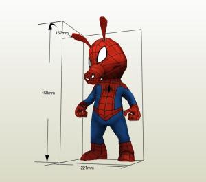 Spider-Ham papercraft