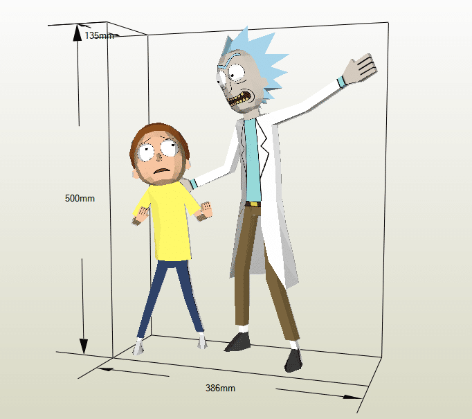 Rick and Morty papercraft