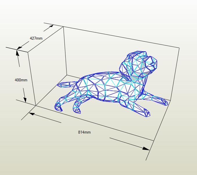 Perro acostado papercraft