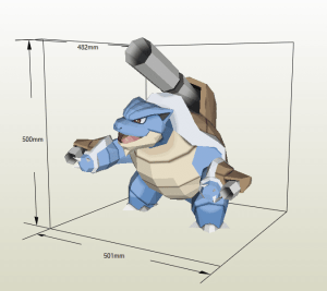 Mega Blastoise papercraft