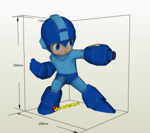 Megaman papercraft