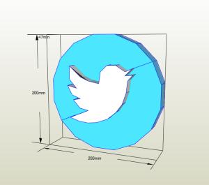 Twitter papercraft