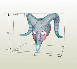 Cráneo Carnero papercraft