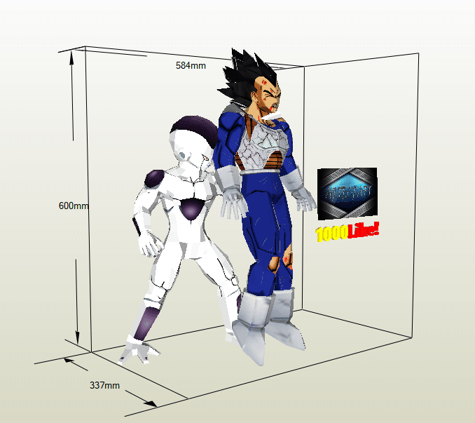 Freezer mata a vegeta papercraft