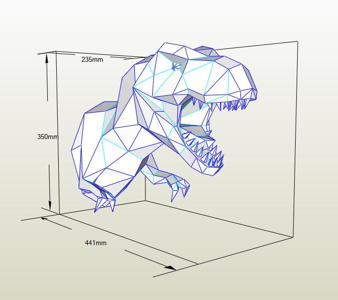 Tiranosaurio Rex papercraft