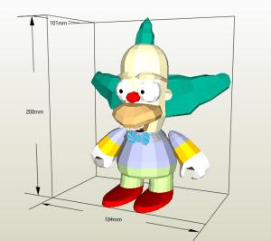 Krust el payaso papercraft