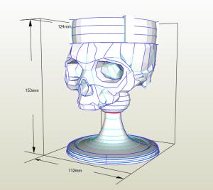 Copa medieval de cráneo papercraft