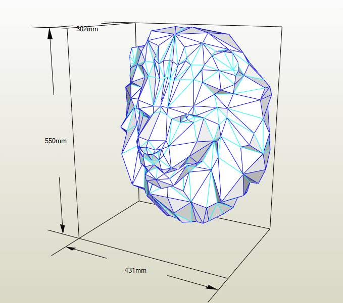 León papercraft