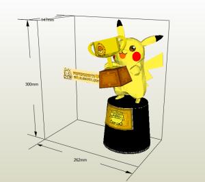 Pikachu trofeo papercraft