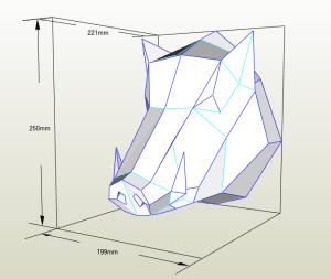 Jabalí LowPoly Papercraft