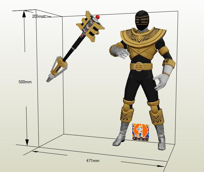 Golden Ranger Papercraft