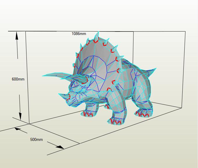 Triceratop papercraft