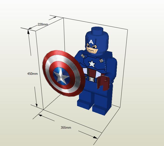 Capitán América papercraft